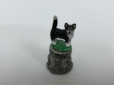 Cat Pewter Thimbles