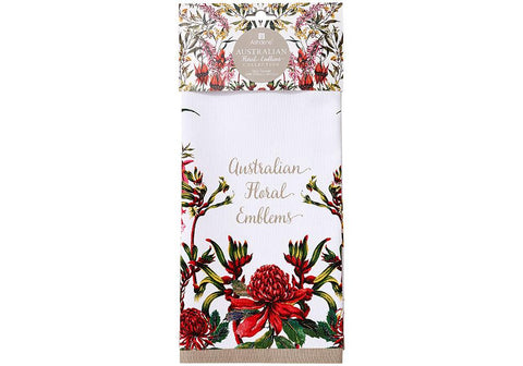 Ashdene Floral Emblems Tea Towel