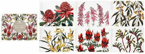Floral emblems placemats (set of 6)