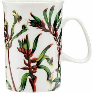 Red & Green Kangaroo Paw mug