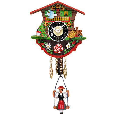 Swinging Girl Mechanical Clock