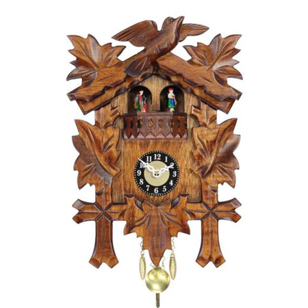 Traditional Vine Leaf Miniature Clock