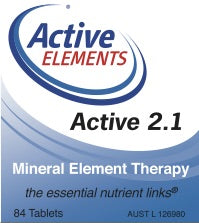 Active 2.1 Mineral Element Therapy (84 tabs)