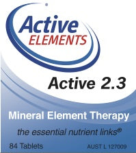 Active 2.3 Mineral Element Therapy (84 tabs)