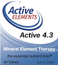 Active 4.3 Mineral Element Therapy (84 tabs)
