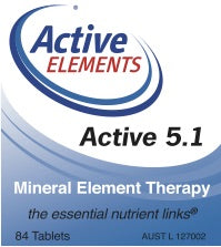 Active 5.1 Mineral Element Therapy (84 tabs)