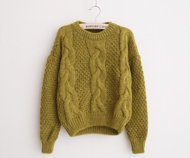 Twist Pull Jumpers Autumn Knitted Sweater
