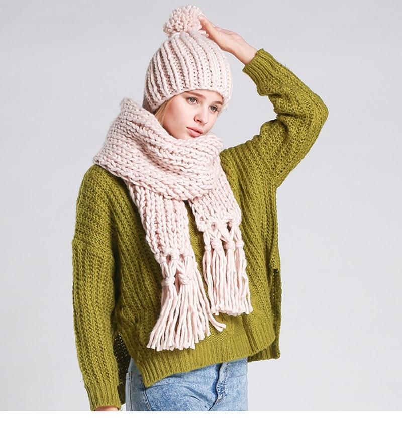 Scarves Women Scarf Clothes Poncho Scarf Hat Sets