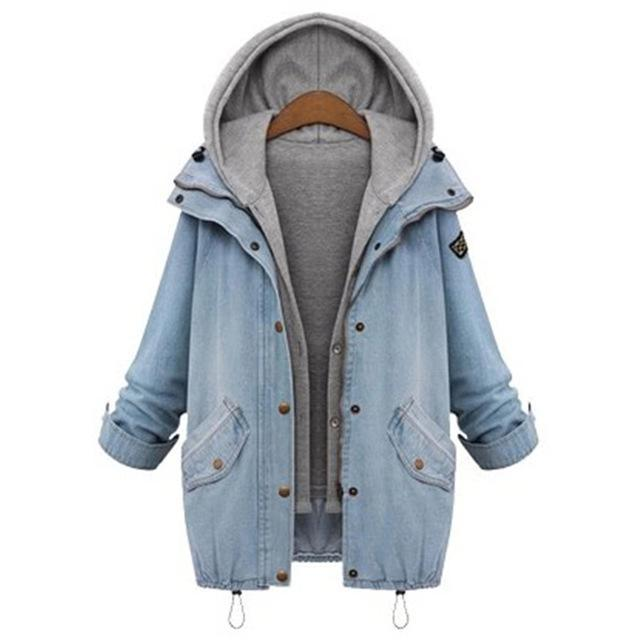 Ashley Hooded Denim Jacket - Shusha chic