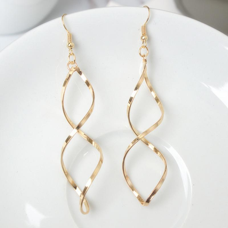 Women Long Wave Dangle Earrings - Shusha chic