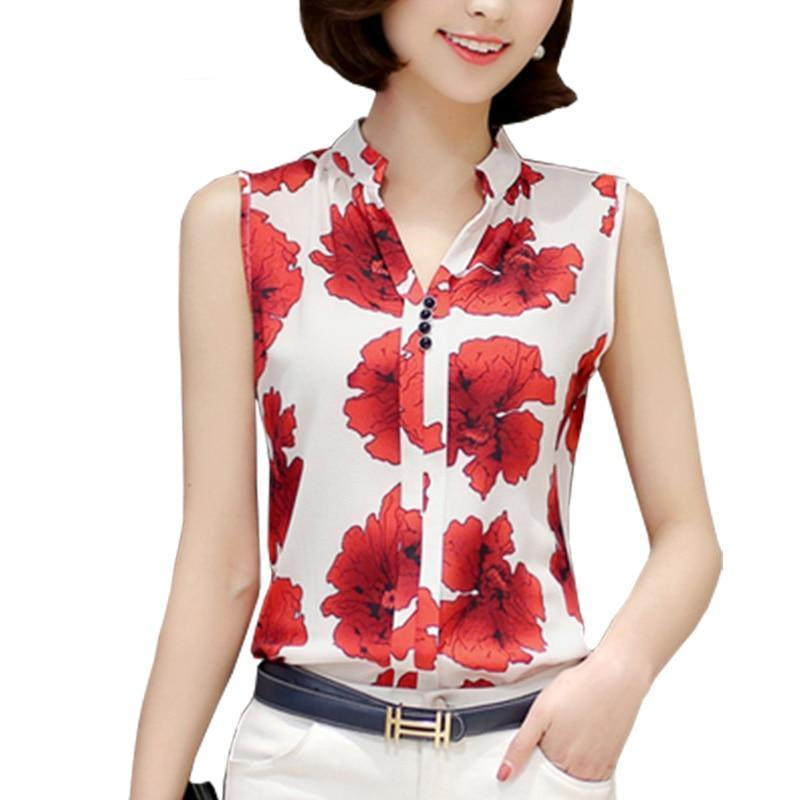 Flower Butterfly Print Shirt - Shusha chic