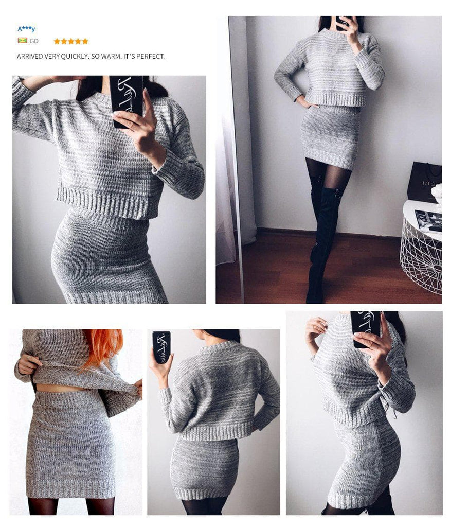 Zahra Knitted Sweater Clothing Set