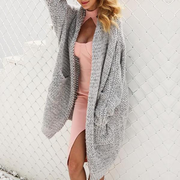Casual knitting long cardigan - Shusha chic