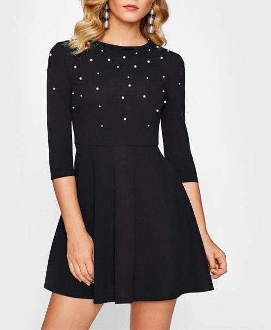 Scarlet Black Skater Dress
