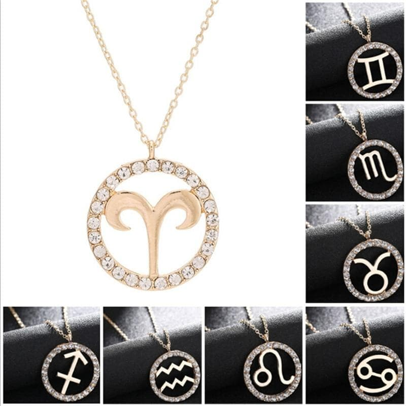 Zodiac Sign Gold Color Necklace