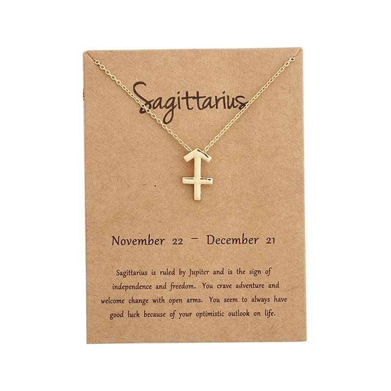 Sagittarius Sign Pendant Necklace For Women