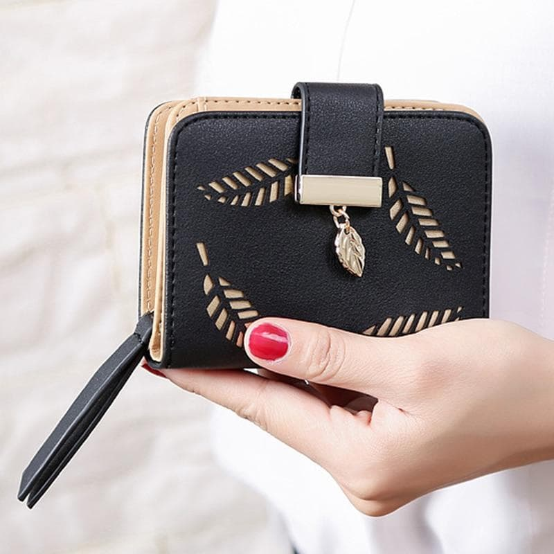 Hollow Leaves Mini Wallet