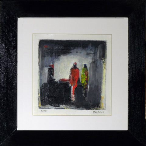 Framed Small Abstract Painting A007