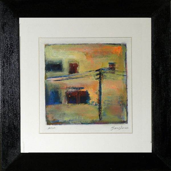 Framed Small Abstract Painting A010