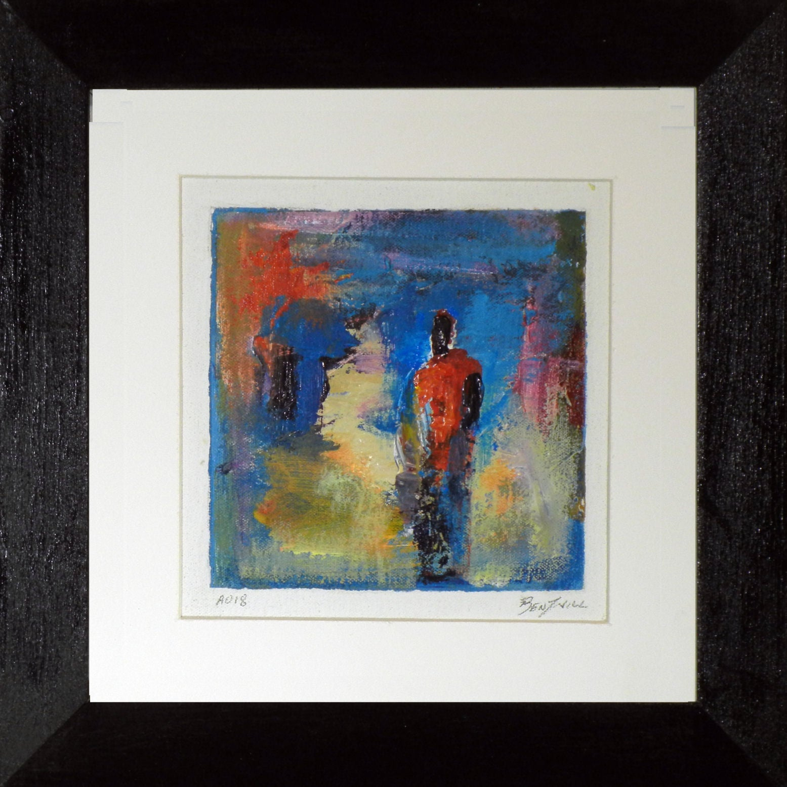 Framed Small Modern Art Painting A018