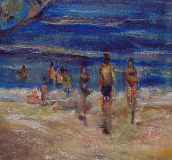 BenWill Art - Original Painting Beach Umbrella detail