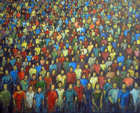 Anonymity : Faces in the Crowd 30x24