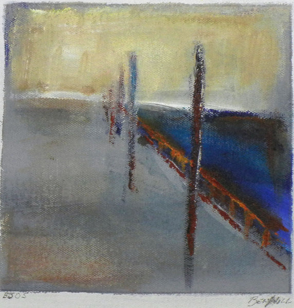 Daily Painting BJ05 Small Abstract Study Painting by BenWill