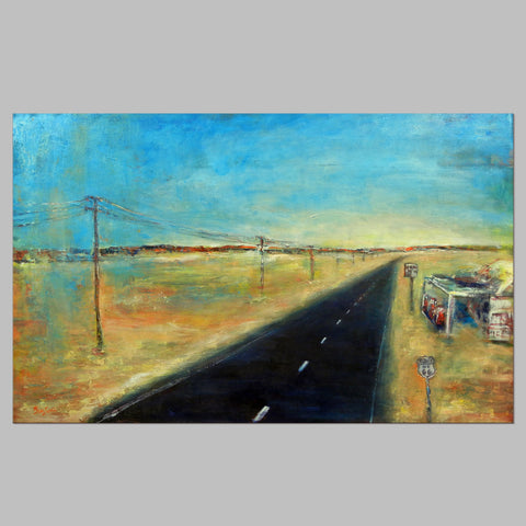 Highway Route 66 - 48x30