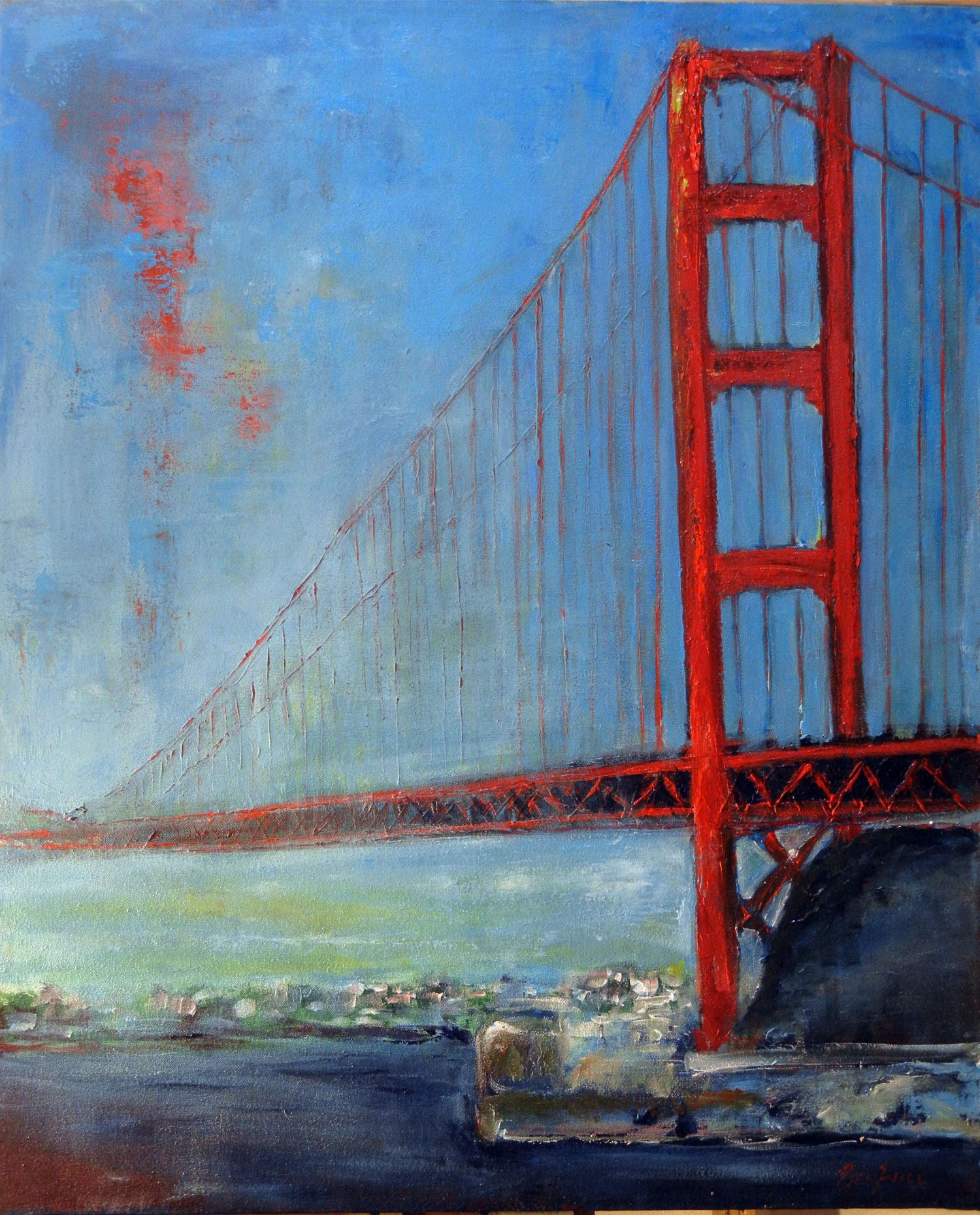 San Francisco Golden Gate Bridge Painting by Artist BenWill