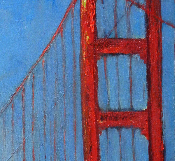 San Francisco Golden Gate Bridge artwork detail