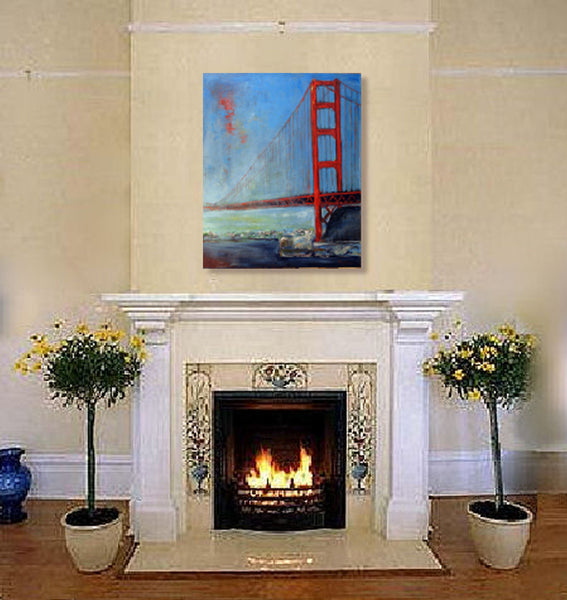 San Francisco Golden Gate Bridge artwork home decor