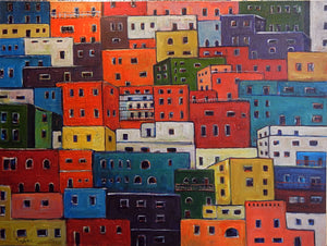Guanajuato Mexico Houses Original Painting by BenWill