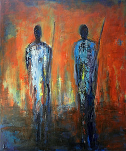 Maasai Warriors Original painting by artist BenWill
