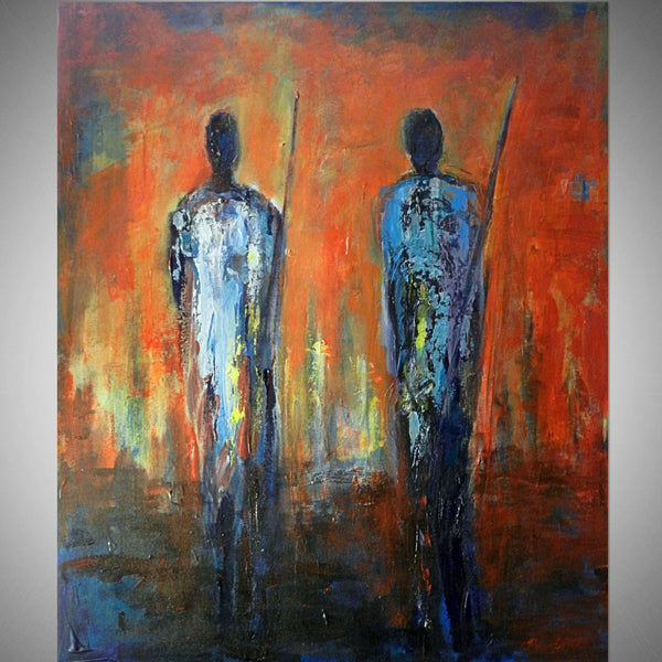 Maasai Warriors - 36x30