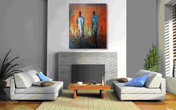 Maasai Warriors Wall Display of Original Painting