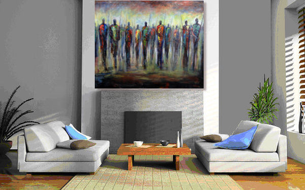 Masses - Maasai Warriors 60 x 48