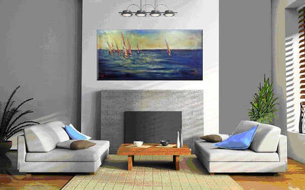 Sailboat Regatta 74 x 36