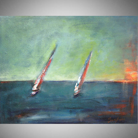 Sailboats II 20x16