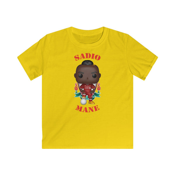 Sadio Mane Liverpool, Kids Gildan Softstyle Tee Shirt