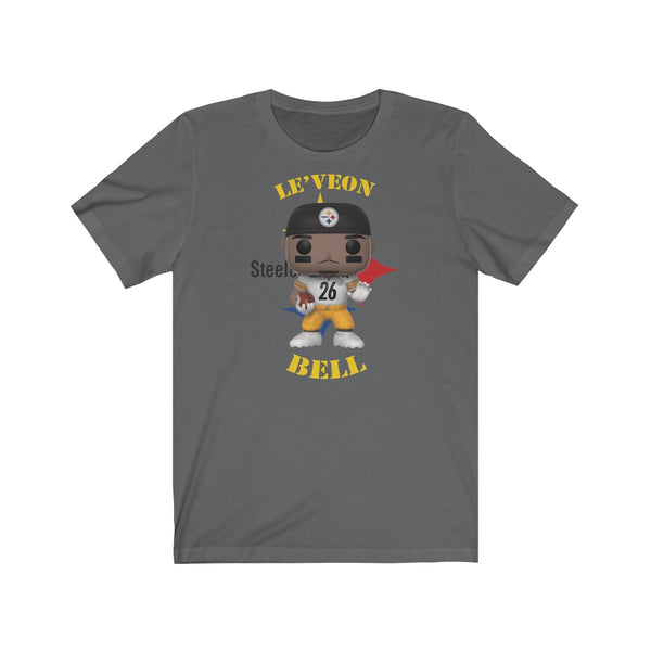 Leveon Bell Pittsburgh Steelers, Soft Cotton Bella and Canvas Short Sleeve Tee shirt