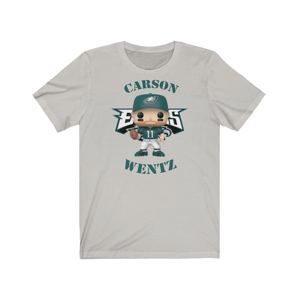 Carson Wentz Philadelphia Eagles (Green Jersey), Soft Cotton Bella and Canvas Short Sleeve Tee shirt
