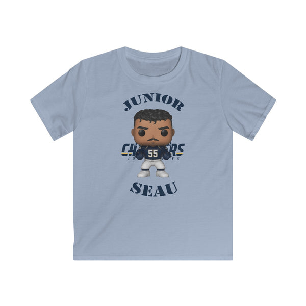 Junior Seau L.A Chargers, Kids Gildan Softstyle Tee Shirt