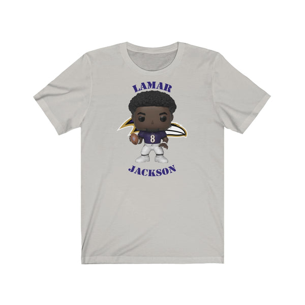 Lemar Jackson Baltimore Ravens, Soft Cotton Bella and Canvas Short Sleeve Tee shirt