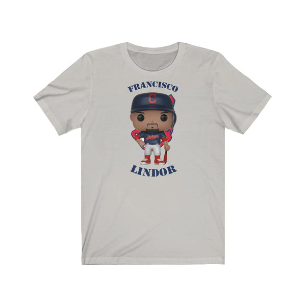 Francisco Lindor Cleveland Indians, Soft Cotton Bella and Canvas Short Sleeve Tee shirt