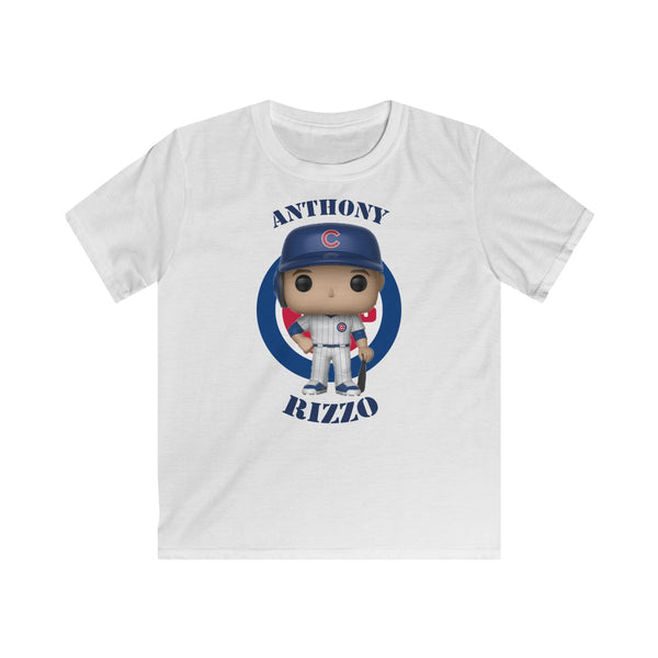 Anthony Rizzo Chicago Cubs Kids Gildan Softstyle Tee Shirt