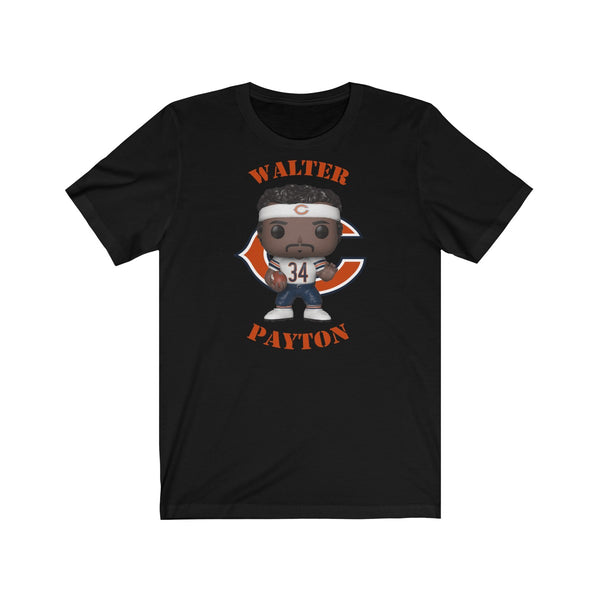 Walter Payton Chicago Bears (White), Soft Cotton Bella and Canvas Short Sleeve Tee shirt