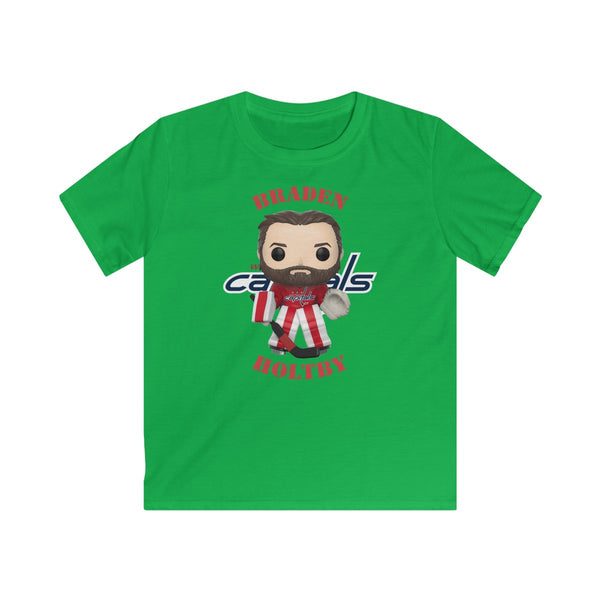 Braden Holtby Washington Capitals, Kids Gildan Softstyle Tee Shirt