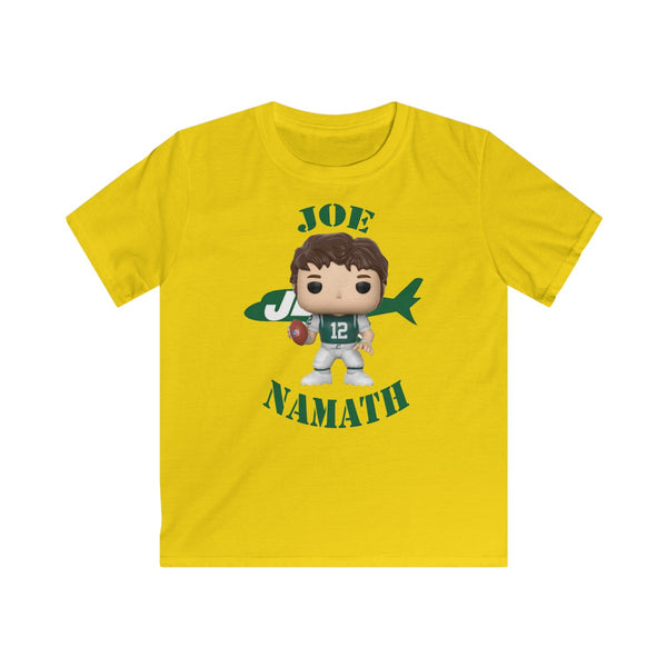 Joe Namath New York Jets, Kids Gildan Softstyle Tee Shirt