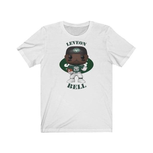 Leveon Bell New York Jets, Soft Cotton Bella and Canvas Short Sleeve Tee shirt