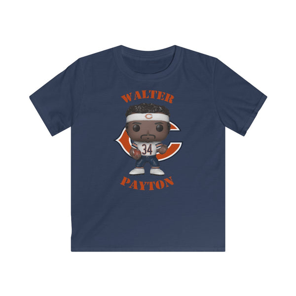 Walter Payton Chicago Bears (White), Kids Gildan Softstyle Tee Shirt